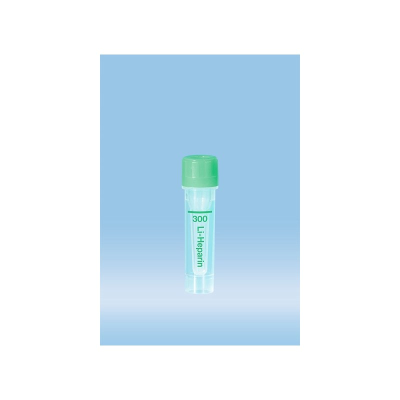 0.3ml 300Ul Lithium Heparin Tube Green Microvette 100ct