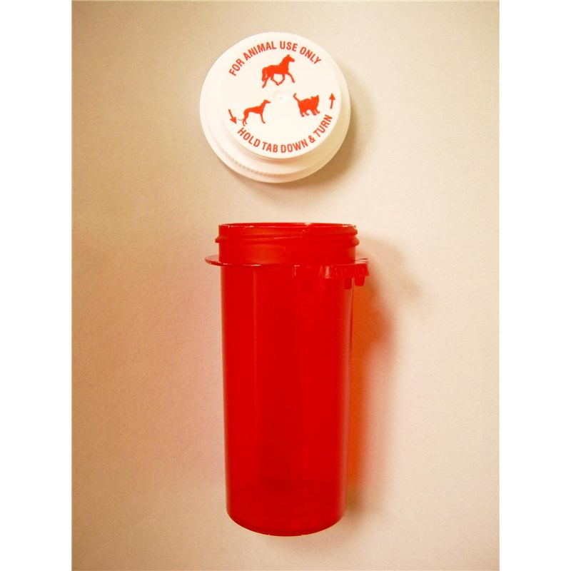 20 Dram 1-Clic Red Pill Vial  120/bx