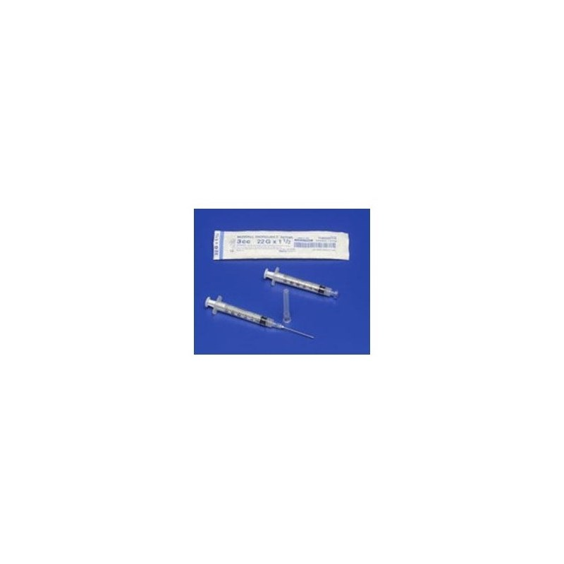 3cc Syringe with 20g x 1 Luer Lock Kenvet 100ct