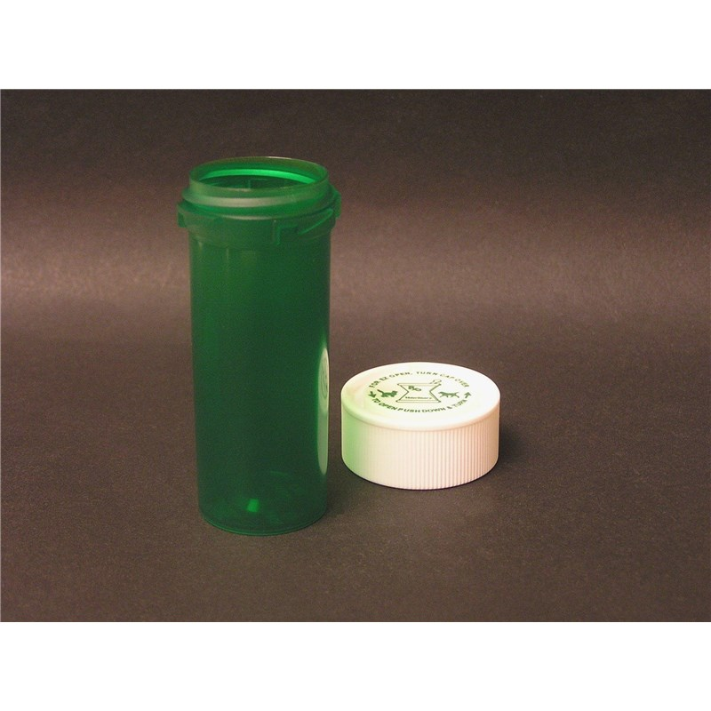 11 Dram Reversible Green Pill Vial