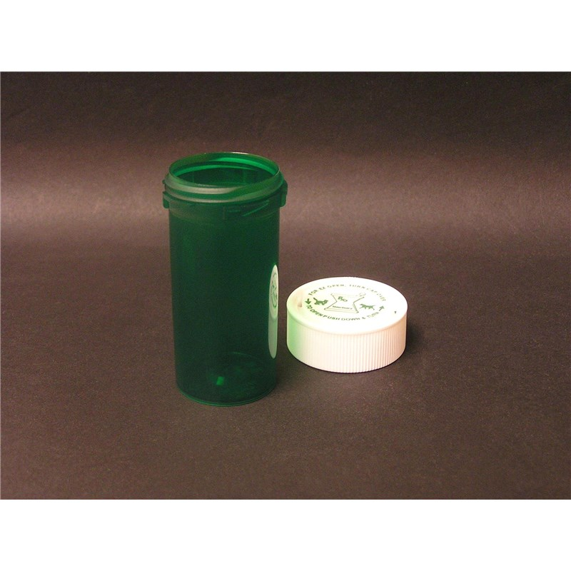 13 Dram Reversible Green Pill Vial