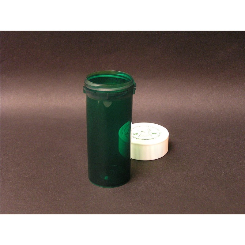 16 Dram Reversible Green Pill Vial