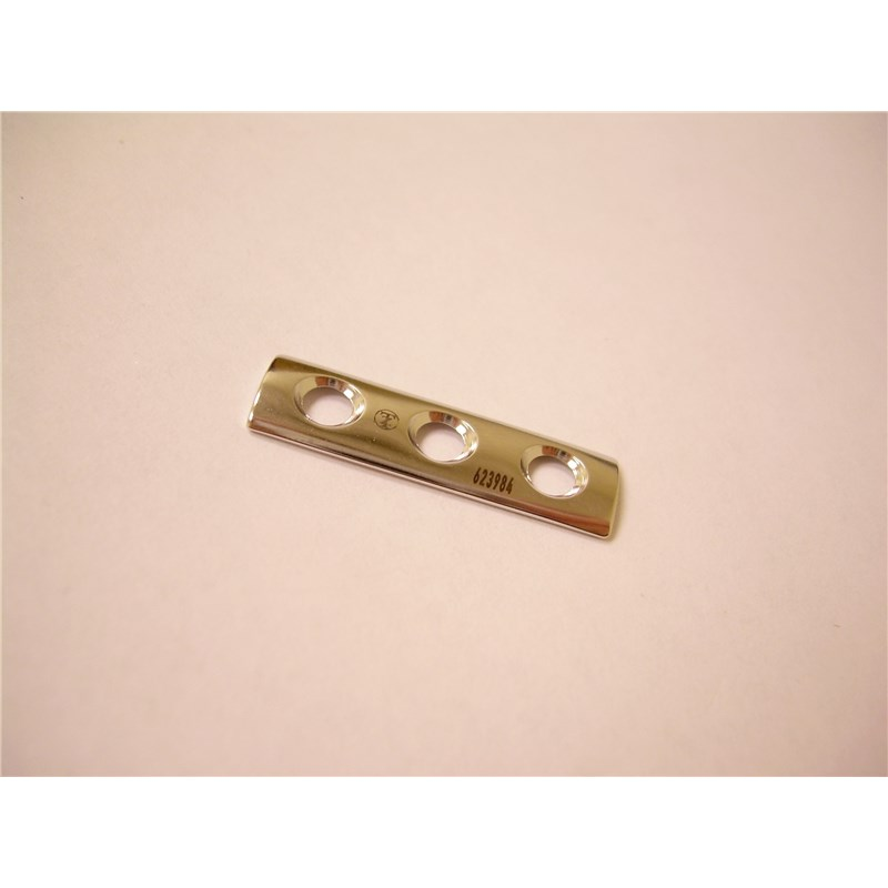 "1/4"" Tubular Plate 25mm X 3 Holes For Use With 2.7mm Screws"
