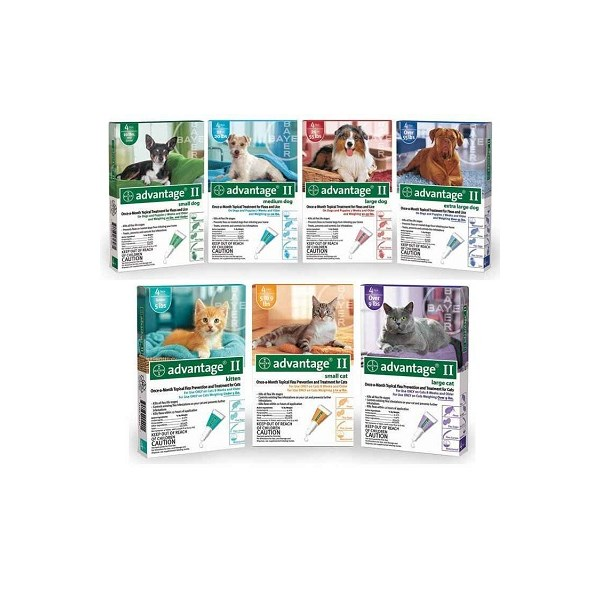 Advantage II Dog Green 3-10Lb 4Pk <B>$234.84<B/>