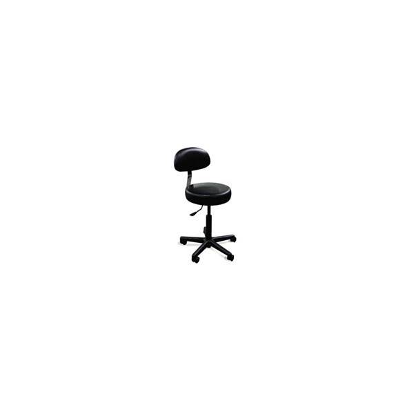 Air Lift Stool with Back Rest 5 Leg Black Base