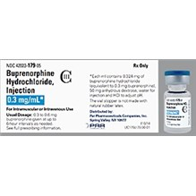 Buprenorphine 0.3mg Injection C3  (5 x 1ml)