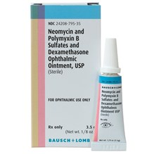 Neo Poly Dex Ophthalmic Ointment 1/8oz Bausch & Lomb Label