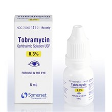 Tobramycin Ophthalmic Solution 0.3% 5ml Somerset Label