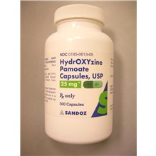 Hydroxyzine Pamoate Caps 25mg 500ct
