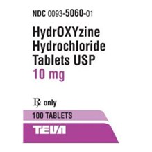 Hydroxyzine Tabs 10mg 100ct Teva Label