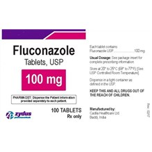 Fluconazole Tabs 100mg 100ct Zydus Label
