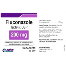 Fluconazole Tabs 200mg 100ct  Zydus Label
