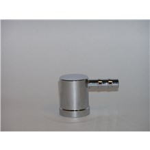 Vaporizer Inlet Adapter Chrome 23mm Inside Fit Male