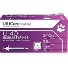 U-40 Insulin Syringe 0.3cc with 29g x 1/2   Ulticare 100/bx