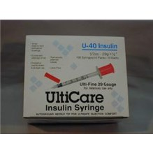 U-40 Insulin Syringe 0.5cc with 29g x 1/2