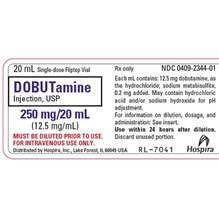 Dobutamine Injection 12.5mg/ml 20ml Individually Boxed Fliptop Vials