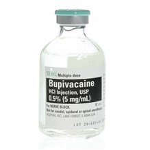 Bupivacaine Injection 0.5% 50ml 25pk Pfizer Full Packs Only