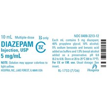 Diazepam Injection 5mg/ml 10ml 10pk C4 Full Box Only