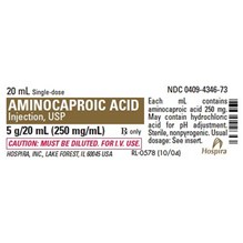 Aminocaproic Acid Injection 250mg/ml 20ml 25pk Full Pack Only