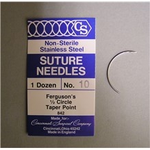 Suture Needle 1/2 Circle Taper Point Size 10