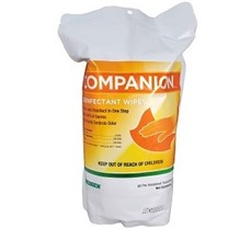 Companion Disinfectant Wipe 60ct resealable bag