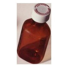 Oval Plastic Bottle 3oz 110/bx