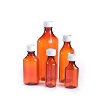 Oval Amber Plastic Bottle 4oz  90/bx