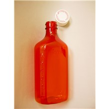 Oval Amber Plastic Bottle 8oz  50/bx