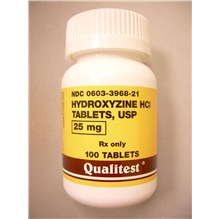 Hydroxyzine Tabs 25mg 100ct