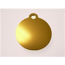 Imarc Tag Small Gold Circle 25ct