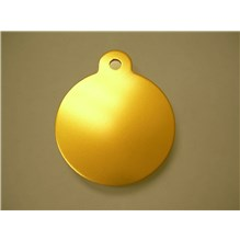 Imarc Tag Large Gold Circle 25ct