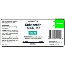 Gabapentin Tabs 600mg  100ct Sciegen Label