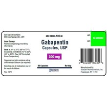 Gabapentin Caps 300mg 500ct Sciegen Label