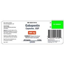 Gabapentin Caps 400mg 500ct  Sciegen Label