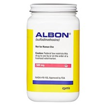 Albon Tabs 500mg 500ct Vet Label Sulfadimethoxine