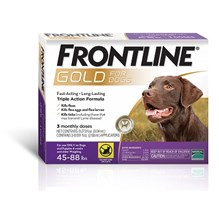 Frontline Gold Large Dog 45-88Lb 6 X 3ds Purple