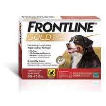 Frontline Gold X-Large 89-123Lbs 3 X 6 Dose Red