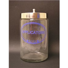Applicators Labeled Sundry Jar With Lid