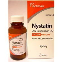 Nystatin 100,000 Units/ml  Oral Suspension 60ml