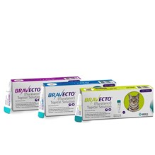 Bravecto Cat Topical Solution 13.8-27.5lb 500mg  Purple 10x1ds