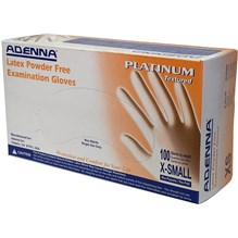 Exam Gloves Adenna Platinum X Small Textured 5.5mil 100/bx  PLT550