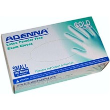 Exam Gloves Gold Textured Powder Free Small 100/bx