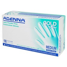 Exam Gloves Gold Textured Powder Free Medium 100/bx