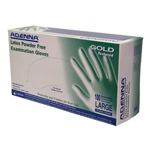 Exam Gloves Gold Textured Powder Free Large  100/bx