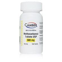 Methocarbamol Tabs 500mg 100ct Camber Label
