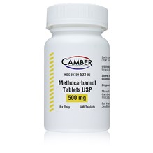 Methocarbamol Tabs 500mg 500ct Camber Label