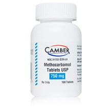 Methocarbamol Tabs 750mg 100ct Camber Label