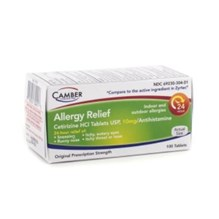 Cetirizine Tabs 10mg 100ct  Camber Label