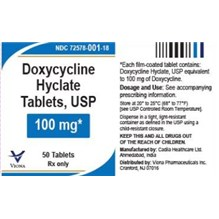 Doxycycline Tabs 100mg 50ct Viona Label
