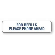 For Refills Phone Ahead Label White 1-5/8